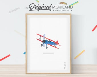 Airplane Print, Airplane Nursery Wall Decor, Airplane Nursery, Vintage Nursery Baby Boy Nursery, Transportation Wall Art, Printable