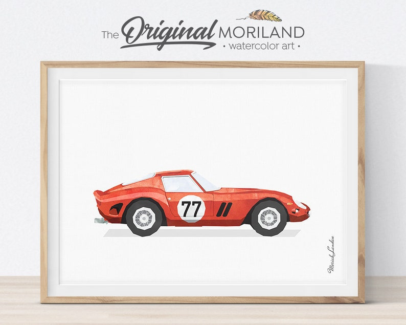 Sports Car Print Classic Sports Car Race Car Wall Art Car image 0