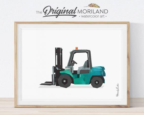 Forklift Truck Print Lift Truck Art Print Truck Art | Etsy