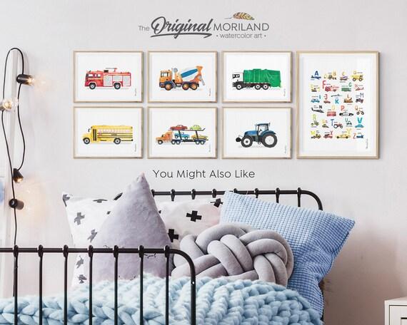 Geschenke Wand Bilderrahmen Bagger Baufahrzeug Jungs Junge Name      10x15 cm