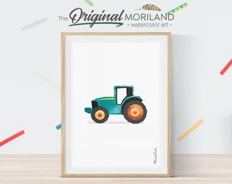 Tractor Print, Tractor Wall Art, Tractor Nursery, Boy Room Art, Nursery Prints, Vehicle Decor, Transportation Wall Art, Printable