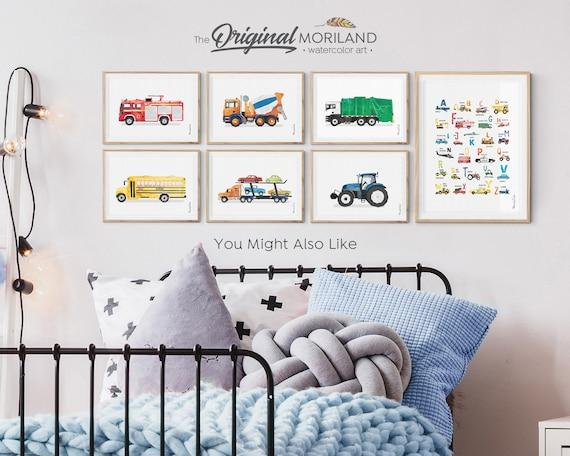 Race Car Print, Classic Sports Car, Race Car Decor, Boy Bedroom Art,  Transportation Print, Printable Car, Race Car Art, Blue Car Wall Art