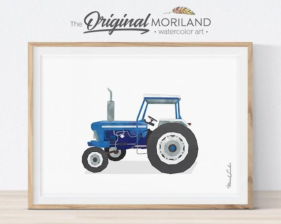 Tractor Wall Art Tractor Nursery Vintage Tractor | Etsy