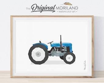 Tractor Print, Tractor Nursery, Transportation Decor, Playroom Decor, Vehicle Decor, Little Boy's Room, Tractor Printable, Farmhouse Decor