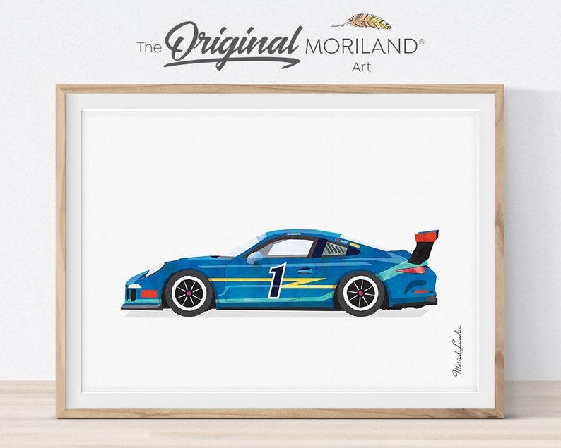 Race Car Print Racing Car Printable Transportation Wall Art image 0