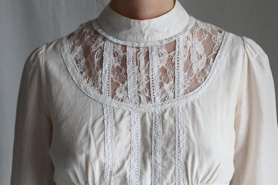 Lace/ Cotton Blouse - image 1