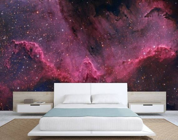 Galaxy Wall Mural Ceiling Wallpaper Nebula Wall Mural Etsy