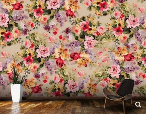 Flower Wallpaper Wall Mural Big Decal
