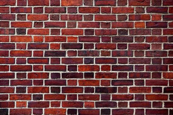 Brick Wallpaper Brick Texture Brick Wall Mural Red Brick Etsy