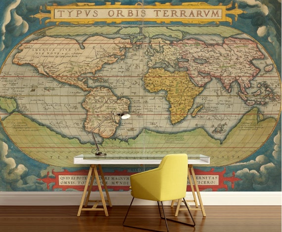 Old World Map Wallpaper Old Map Wall Mural Vintage World Map Self Adhesive Vinly World Map Wall Decal Retro World Map Unique World Map