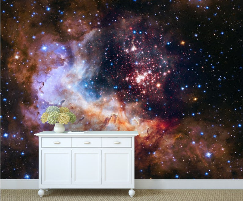 Galaxy wallpaper nebula wallpaper peel and stick ceiling wall star wallpaper universe ceiling wall mural stars universe wallpaper