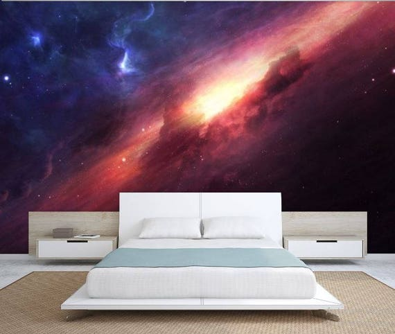 Ceiling Galaxy Ceiling Wallpaper Nebula Wall Mural Galaxy | Etsy