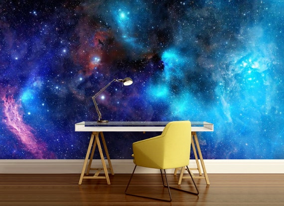 Galaxy Wall Decal Stars Wallpaper Nebula Wall Mural Self Adhesive Ceiling Ceiling Wall Mural Space Star Wall Mural Ceiling Wallpaper