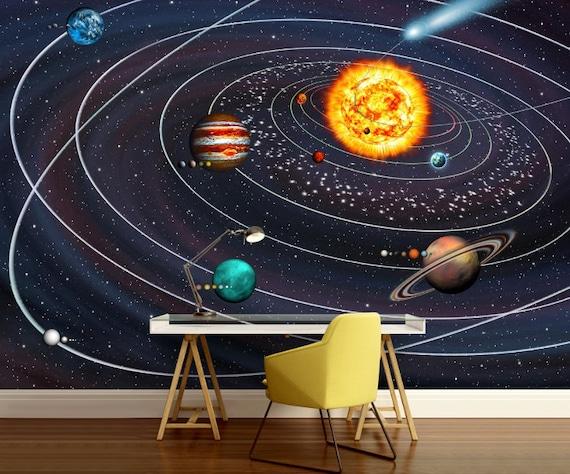 Solar System Wallpaper Wall Mural Galaxy