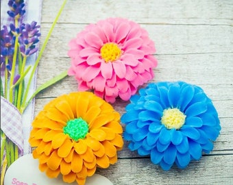 Zinnia Soap-Flower Soap-Wedding Favor- 3D Soap-Women Gift-Gift for Her-Party Favor
