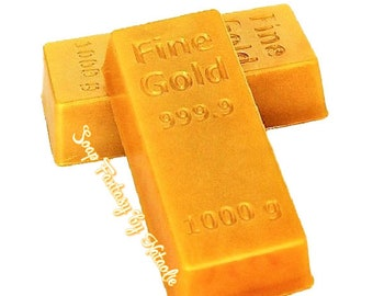 Gold Bar Soap-Fine Gold-Gift for Banker-Party Favor