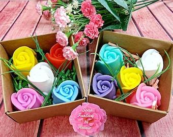 5 Rosebud Soaps,  3 D Rose Soap,Wedding Favor,Birthday Gift, ,Women Gift, Flower Soap,Gift for Her,Party Favor
