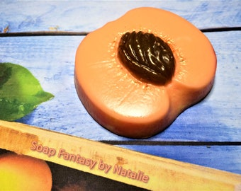 Peach Soap-Fruit Soap-Vegan Soap-Piece of Peach Soap