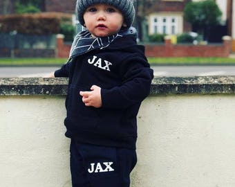 Personalised baby and toddler hoodie and jogger set