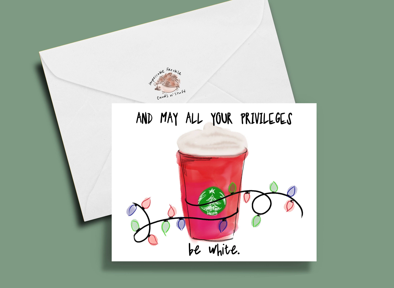 funny starbucks card funny christmas card: Basic Christmas   Etsy