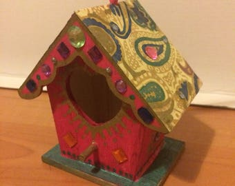 Hippy paisley birdhouse
