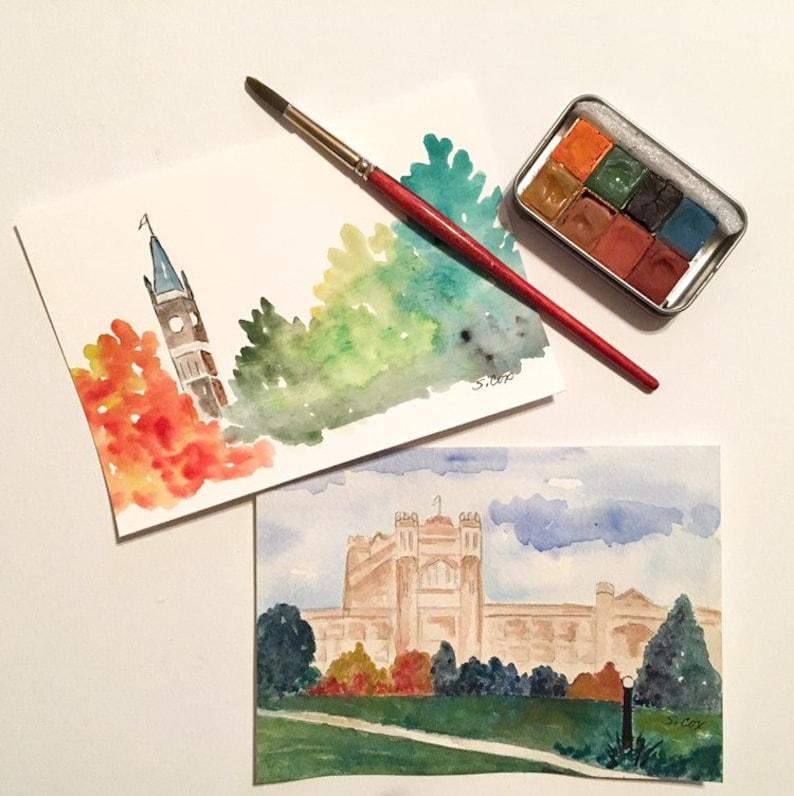 98229616e Watercolor Landscape paintings of Ottawa Canadian wall decor   Etsy