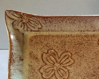 Pottery Dogwood Sushi Platter with 4 Plates