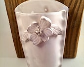 Pottery Wall Vase with Dogwood