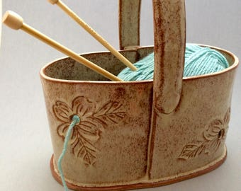 Pottery Double Yarn Bowl - Custom Order