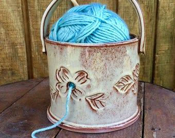 Pottery Single Skein Yarn Bowl - Custom Order