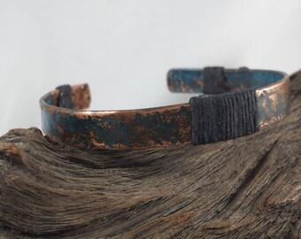 Copper Cuff Bracelet / Copper Bracelet / Copper Patina Bracelet / His or Her Bracelet / 756