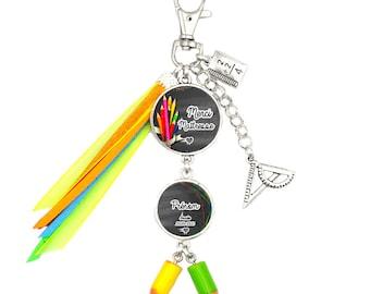 Customizable bag jewel / key holder - Mistress - Child's first name