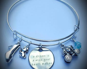 Disney Cinderella inspired adjustable bracelet