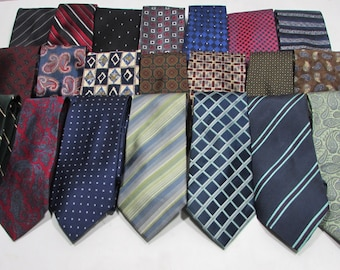 692d68e1bde2 New Men's Lot of 3 Brand New Silk & Other Fabrics Vintage Name Brand  Conservative Style Neckties Ties from Tulu's