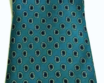 New Je Suis 100% Silk True Teal with Purple Abstract Circles Geometric Vintage Necktie Orig Retail 69
