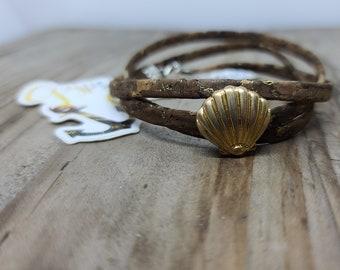 Wrapped Cork Bracelet