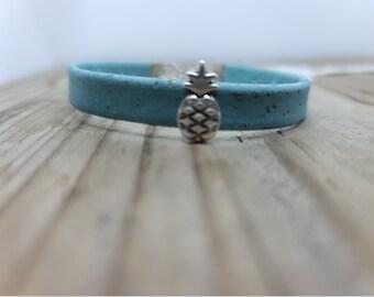 Blue Cork Bracelet