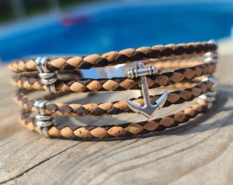 Layered Cork Bracelet