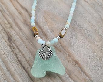 Amazing Amazonite Sea Glass Necklace