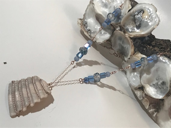 Rose Gold Wire Wrapped Shell