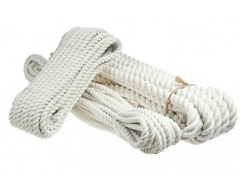 Twisted Cotton Rope 100/% natural rope Cream Cord 16 mm all purpose cord