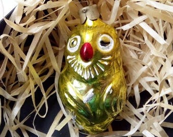 owl antique christmas ornament 1980s christmas decorations soviet christmas tree decoration vintage soviet new year ussr christmas - 1980s Christmas Decorations