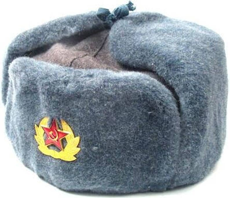 59dca19c2eb26 Authentic Soviet Russian Army Soldier Winter HatRussian Army