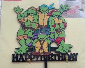Ninja turtles Birthday Cake Topper