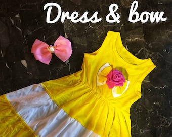 Belle Dress Boutique Beauty inspired dress and Bow FREE SHIPPING!