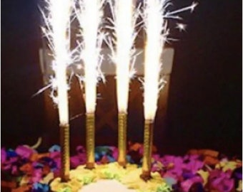 Silver Gold Birthday Party Candles