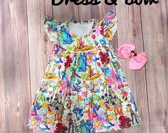 Disney Characters Dress and Bow