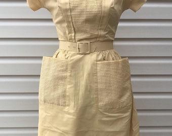 5bbcb41cbe5 40/50's Vintage Yellow Dress