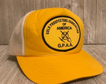Gold Prospectors Association of America G.P.A.A. Vintage Trucker Hat 4b93b6267f0