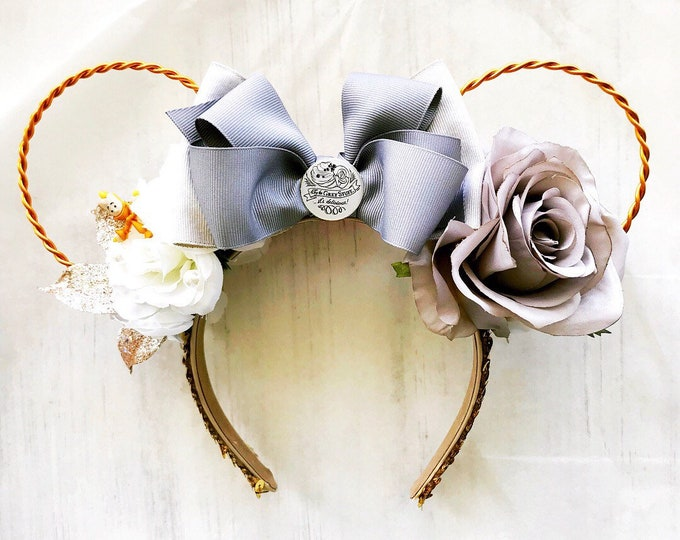 Featured listing image: Beauty and the Beast Grey Stuff Ears, Be Our Guest Minnie Ears, Lumière minnie ears